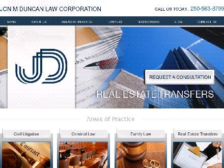Jon M Duncan Law Corp (250-645-0338) - Onglet de site Web - http://www.jmd-law.ca