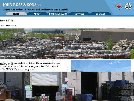 John Ross & Sons Ltd (902-450-5633) - Onglet de site Web - http://www.jrsons.ca