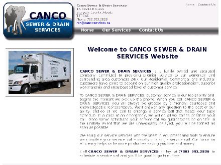 Canco Sewer & Drain Services (780-993-2826) - Onglet de site Web - http://www.cancoservices.ca