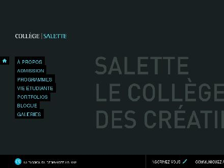 Collège Salette (514-388-5725) - Website thumbnail - http://www.collegesalette.qc.ca