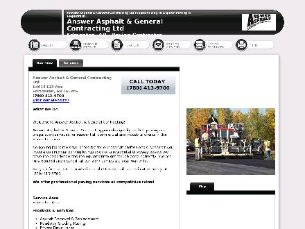 Answer Asphalt & General Contracting Ltd (780-413-9700) - Website thumbnail - http://www.answerasphalt.com