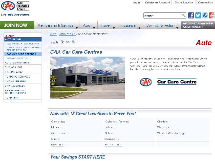 CAA Car Care Centre (416-282-1191) - Onglet de site Web - http://www.caasco.com/automotive/auto-repair/caa-car-care-centres.jsp