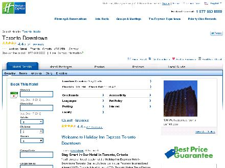 Holiday Inn Express Toronto Downtown (416-367-5555) - Website thumbnail - http://www.ichotelsgroup.com/h/d/ex/1/en/hotel/yyzls