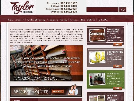 Taylor Flooring Ltd (902-445-6400) - Website thumbnail - http://www.taylorflooring.com