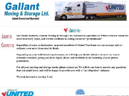Gallant Moving & Storage Ltd (1-866-268-6813) - Onglet de site Web - http://www.gallantmoving.com