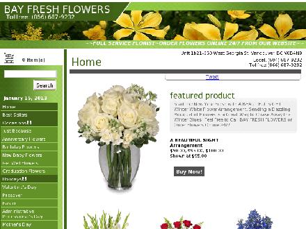 Bay Fresh Flowers (604-687-9232) - Website thumbnail - http://www.bayfreshflowers.com