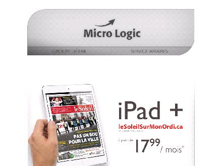 Micro Logic (418-658-6624) - Onglet de site Web - http://www.micrologic.ca
