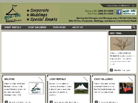 Nor-Val Event Rentals Ltd (250-541-0945) - Website thumbnail - http://www.nor-valevents.com