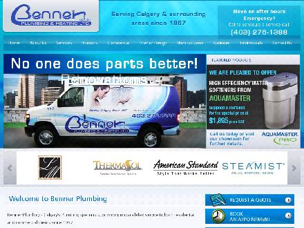 Benner Plumbing & Heating Ltd (403-276-1388) - Website thumbnail - http://www.bennerplumbing.com