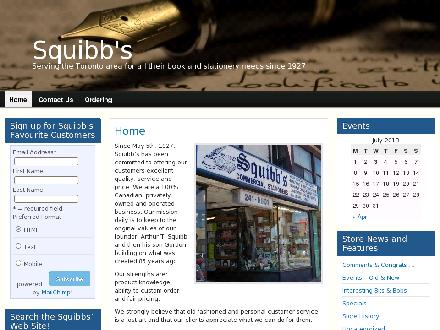 Squibbs Stationers (416-241-5801) - Website thumbnail - http://www.squibbsstationers.com