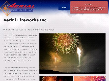 Aerial Fireworks Inc (780-757-7976) - Onglet de site Web - http://www.aerialfireworks.ca