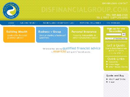 D I S Financial Solutions Group (905-666-2090) - Onglet de site Web - http://www.disfinancialgroup.com