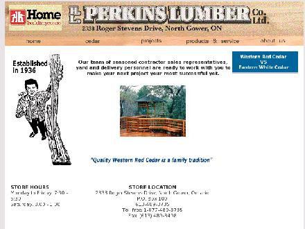 H.L. Perkins Co. Lumber & Building Supplies (613-489-3735) - Website thumbnail - http://www.perkinslumber.ca