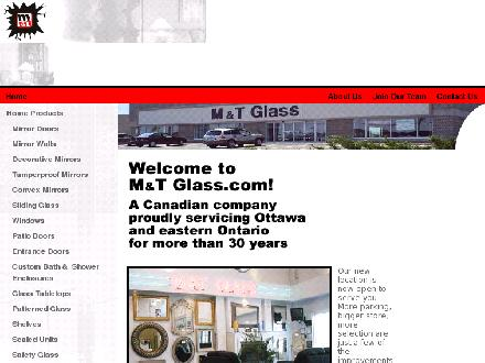 M & T Glass (613-745-7158) - Website thumbnail - http://www.mtglass.com