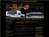 C&eacute;l&eacute;brations Limousines (514-329-1234) - Onglet de site Web - http://www.celebration-limousine.com