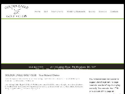 Golden Eagle Golf Club (604-460-1111) - Website thumbnail - http://www.goldeneaglegolfclub.com