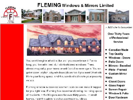 Fleming Windows & Mirrors (905-684-8774) - Website thumbnail - http://www.flemingwindows.com