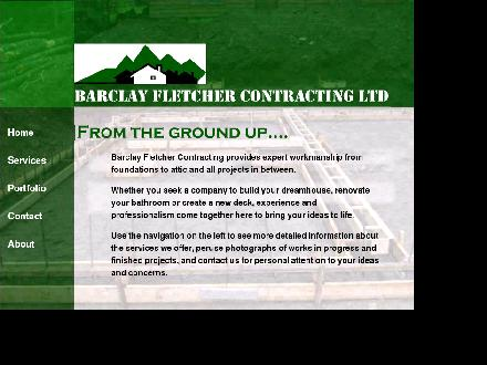 Barclay Fletcher Contracting (604-869-1686) - Onglet de site Web - http://www.bfletchercontracting.com