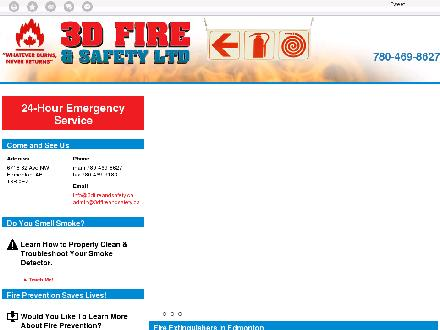3D Fire &amp; Safety Ltd (780-469-8627) - Onglet de site Web - http://www.3dfireandsafety.ca