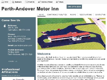Perth-Andover Motor Inn (1-888-273-2226) - Website thumbnail - http://perth-andovermotorinn.com