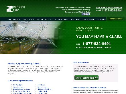 Dietrich Personal Injury and Disability Lawyers (519-749-0770) - Onglet de site Web - http://www.dietrichlaw.ca
