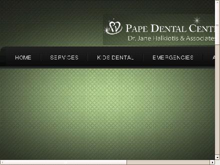 Pape Dental Centre (416-465-3111) - Onglet de site Web - http://www.papedental.ca