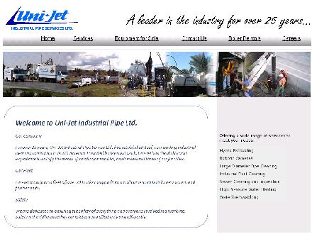 Uni-Jet Industrial Pipe Services Ltd (204-633-4879) - Website thumbnail - http://www.unijet.ca