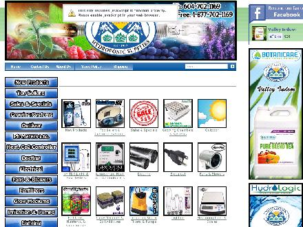 Valley Indoor Greenhouse Supplies (604-702-1169) - Website thumbnail - http://www.valleyindoor.com