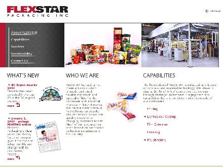 Flexstar Packaging Inc (604-273-9277) - Onglet de site Web - http://www.flexstar.ca