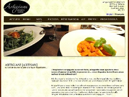 Restaurant Artigiani (514-564-5842) - Onglet de site Web - http://www.artigiani.ca