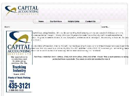 Capital Accounting Services Ltd (780-435-3121) - Website thumbnail - http://www.capacc.ca