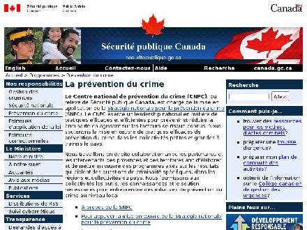 Sécurité publique Canada (1-877-302-6272) - Website thumbnail - http://publicsafety.gc.ca/cnpc