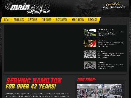 Main Cycling & Sports Ltd (905-544-0338) - Onglet de site Web - http://www.maincycle.com