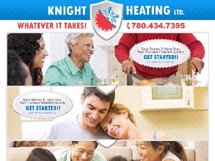 Knight Heating Ltd (780-401-1973) - Onglet de site Web - http://www.knightheating.com