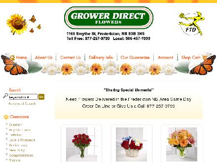 Grower Direct Fresh Cut Flowers (506-457-1999) - Website thumbnail - http://www.theflowerguys.ca