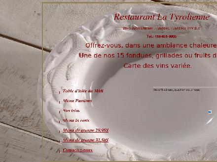 Restaurant La Tyrolienne (418-651-6905) - Onglet de site Web - http://www.restauranttyrolienne.ca