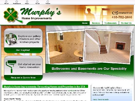 Murphy's Home Improvements (647-494-3533) - Onglet de site Web - http://murphysrenos.ca