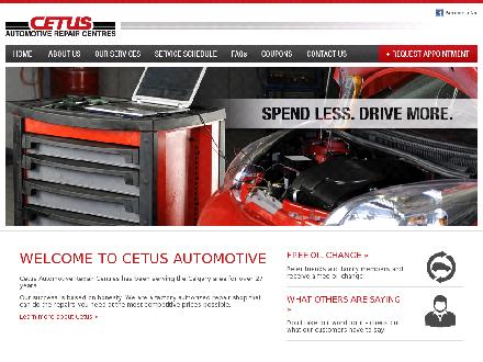 Cetus Automotive Repair Centres (403-235-2912) - Onglet de site Web - http://www.cetusautomotive.com