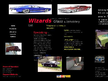 Wizards Glass &amp; Upholstery Ltd (250-562-0002) - Onglet de site Web - http://www.wizardsglassandupholstery.com
