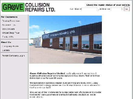 Grove Collision Repairs Ltd (780-962-3755) - Onglet de site Web - http://www.grovecollision.ca