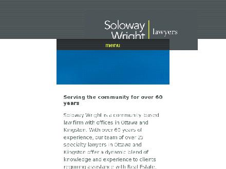 Soloway Wright (613-236-0111) - Website thumbnail - http://www.solowaywright.com