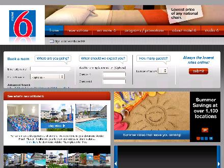 Motel 6 (306-634-8666) - Onglet de site Web - http://www.motel6.com