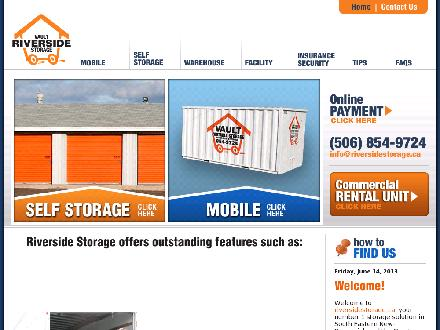 Riverside Storage (506-801-9943) - Website thumbnail - http://www.riversidestorage.ca