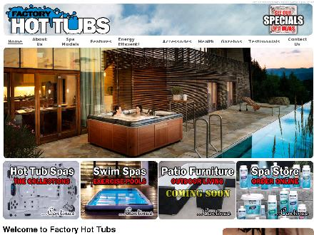 Factory Hot Tubs (416-619-5979) - Website thumbnail - http://www.factoryhottubs.ca