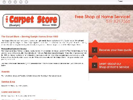 Carpet Store The (519-821-7366) - Onglet de site Web - http://thecarpetstoreguelph.com/