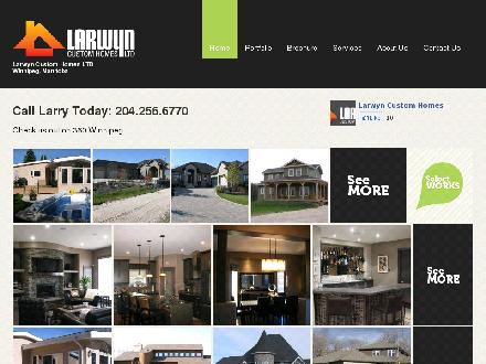 Larwyn Custom Homes Ltd (204-256-6770) - Onglet de site Web - http://www.larwynhomes.com