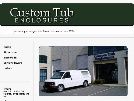 Custom Tub Enclosures (604-854-5559) - Website thumbnail - http://www.customtubenclosures.com