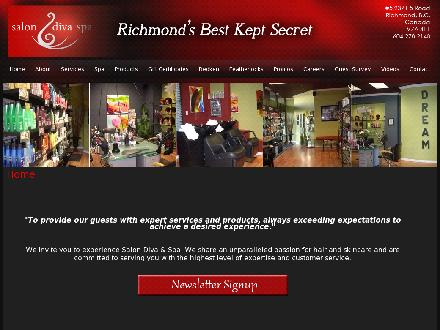 Salon Diva (604-278-2140) - Website thumbnail - http://www.salondivarichmond.com