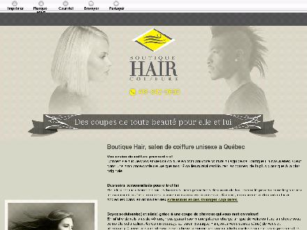 Boutique Hair Coiffure (418-842-0600) - Website thumbnail - http://boutiquehaircoiffure.com