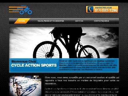 Cycle Action Sports (514-598-1296) - Onglet de site Web - http://www.cycleactionsport.com